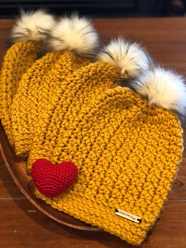 Toasted coconut-topped Gold Bay Beanie