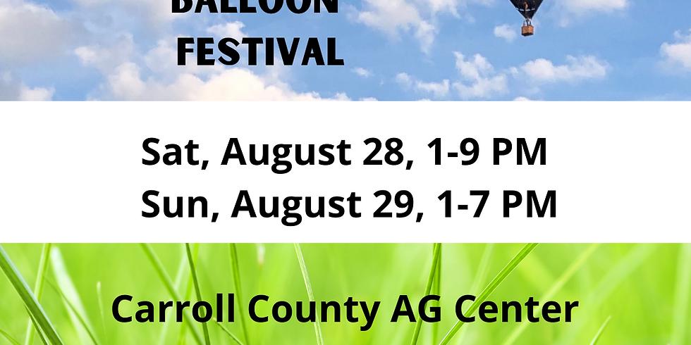 Saturday, Aug 28 Hot Air Balloon Festival