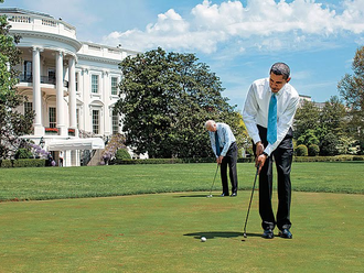 Obama Golfs While Rome Burns