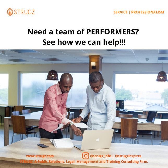 Need a team of PERFORMERS? See How We Can Help!!!
