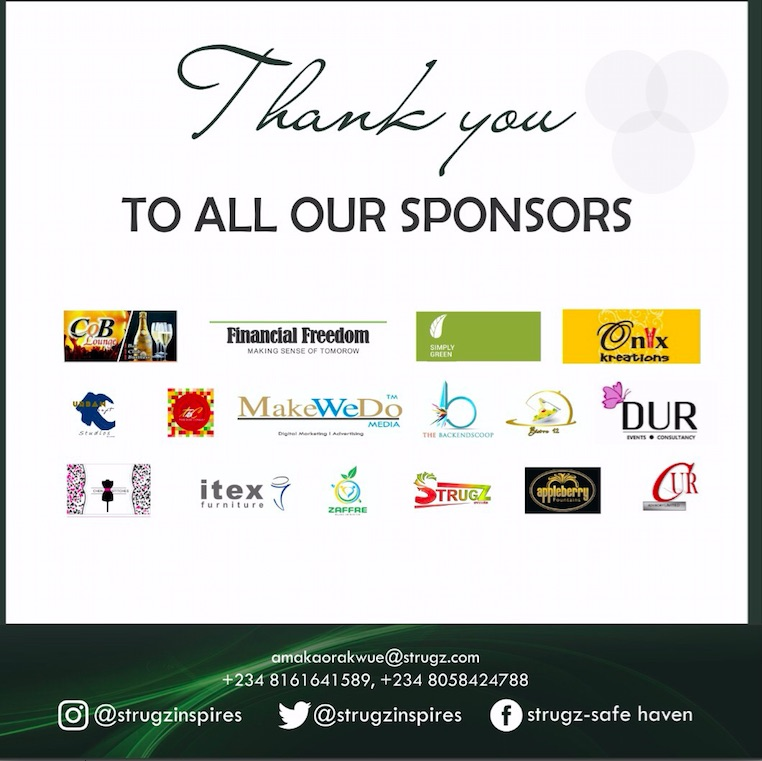 Thanks To Sponsors