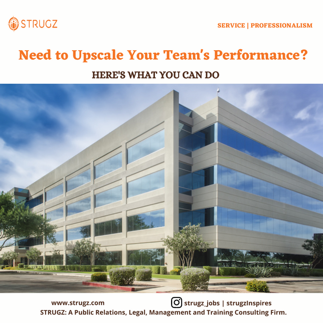 Need To Upscale Your Team's Performance? HERE'S WHAT YOU CAN DO.