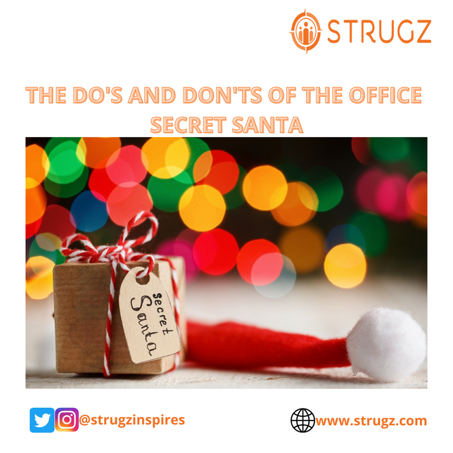 DO'S AND DON'T OF THE OFFICE SECRET SANTA
