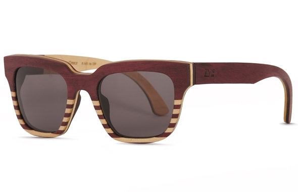 MONK | PURPLEHEART AND MAPLE STRIPES