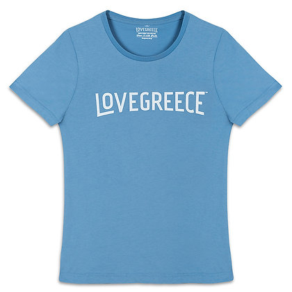 WOMEN'S LOVEGREECE GREEK BLUE T-SHIRT