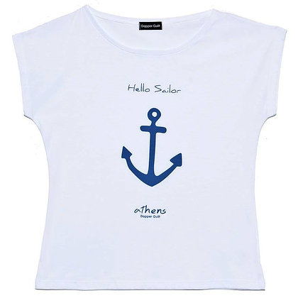 WOMEN'S HELLO SAILOR TEE