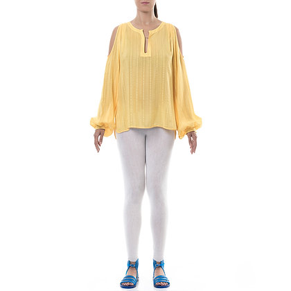 DELOS YELLOW SILK BLOUSE