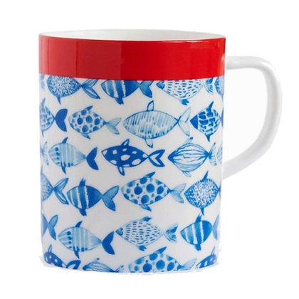 REMEMBER PORCELAIN MUG FISH
