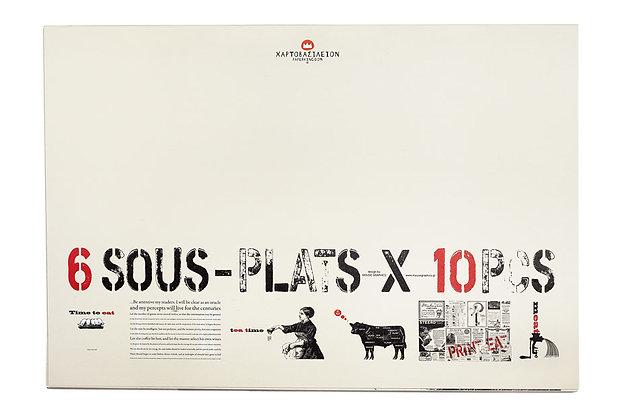 6 SOUS-PLATS X 10PCS