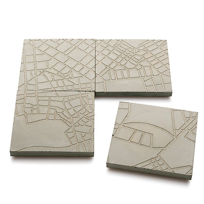 ATHENS FRAGMENTS CONCRETE COASTERS