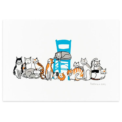 KAFENEIO CATS 1 A4 PRINT