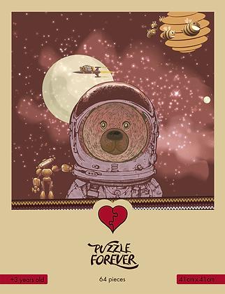 EXPAT BEAR 64 PIECES PUZZLE