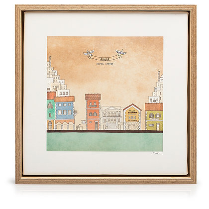 SYROS FRAMED CANVAS