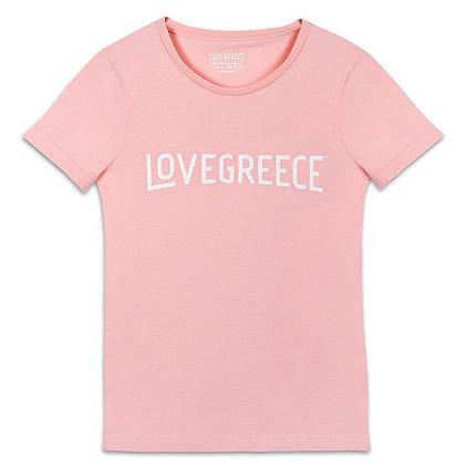 WOMEN'S LOVEGREECE PINK T-SHIRT