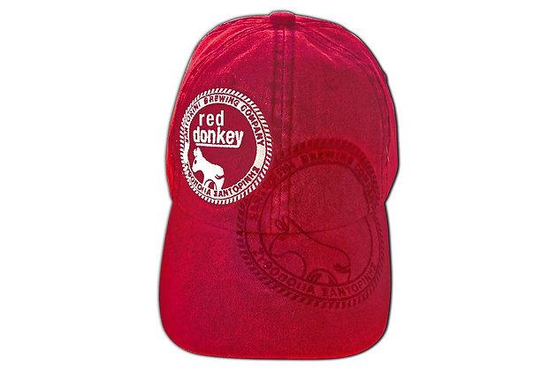 RED DONKEY BRUSHED CANVAS CAP