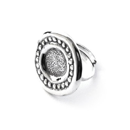 ADJUSTABLE B-PROUD SILVER RING