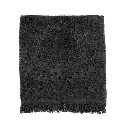 JUST BLACK BEACH TOWEL
