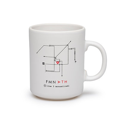 COFFEE MUG ATHENS METRO PLAN
