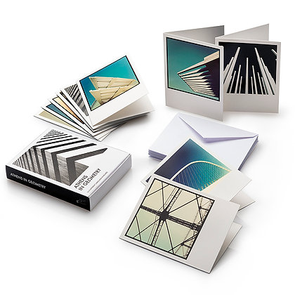 ATHENS IN GEOMETRY 10 POSTCARDS AND ENVELOPES KIT