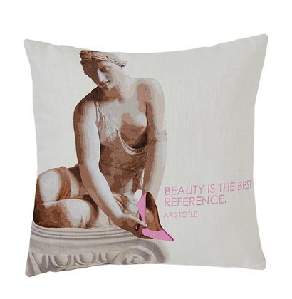 YOUNG WOMAN CUSHION COVER