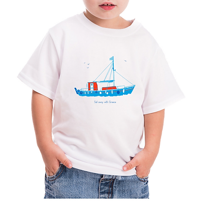 T-GREEKS BOAT KIDS T-SHIRT