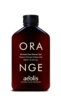 ORGANIC ORANGE & ROYAL JELLY SHOWER GEL