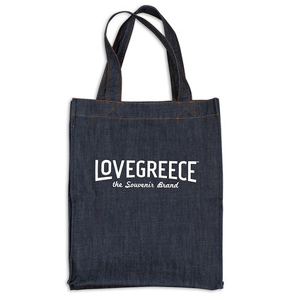 LOVEGREECE DENIM TOTE