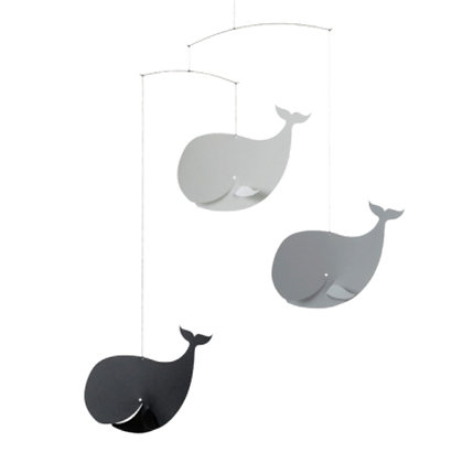 HAPPY WHALES MOBILE GREY