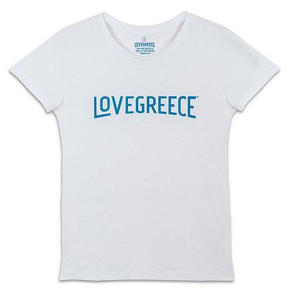 WOMEN'S LOVEGREECE WHITE T-SHIRT
