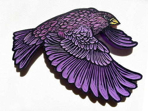 Painted Bird Carving