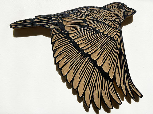 Hand Carved wooden bird