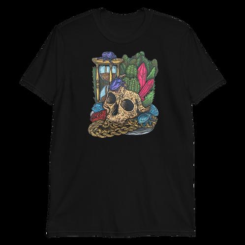 Skull, Scarab and Crystals. Short-Sleeve Unisex T-Shirt