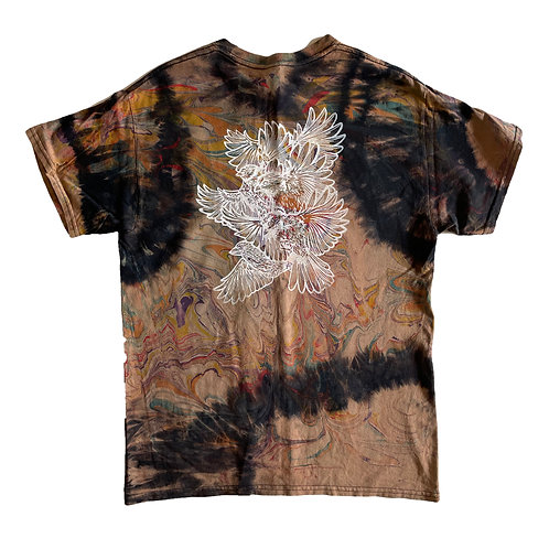 Tie-dyed and Marbled Bird Study Shirt