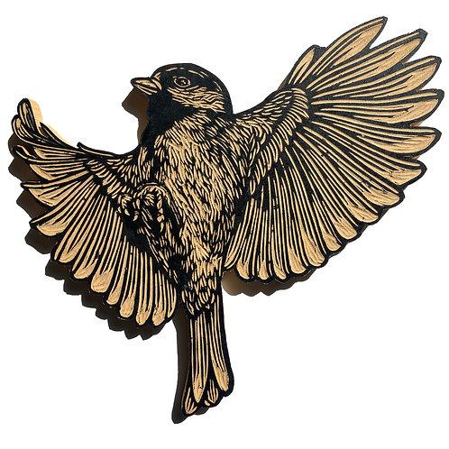 Hand Carved Wooden Bird