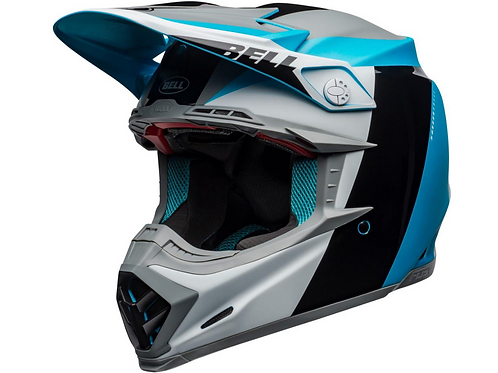 BELL Moto-9 Flex - Division White/Black/Blue