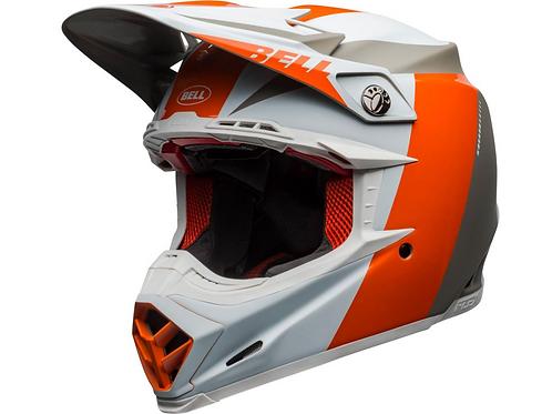 BELL Moto-9 Flex - Division White/Orange/Sand