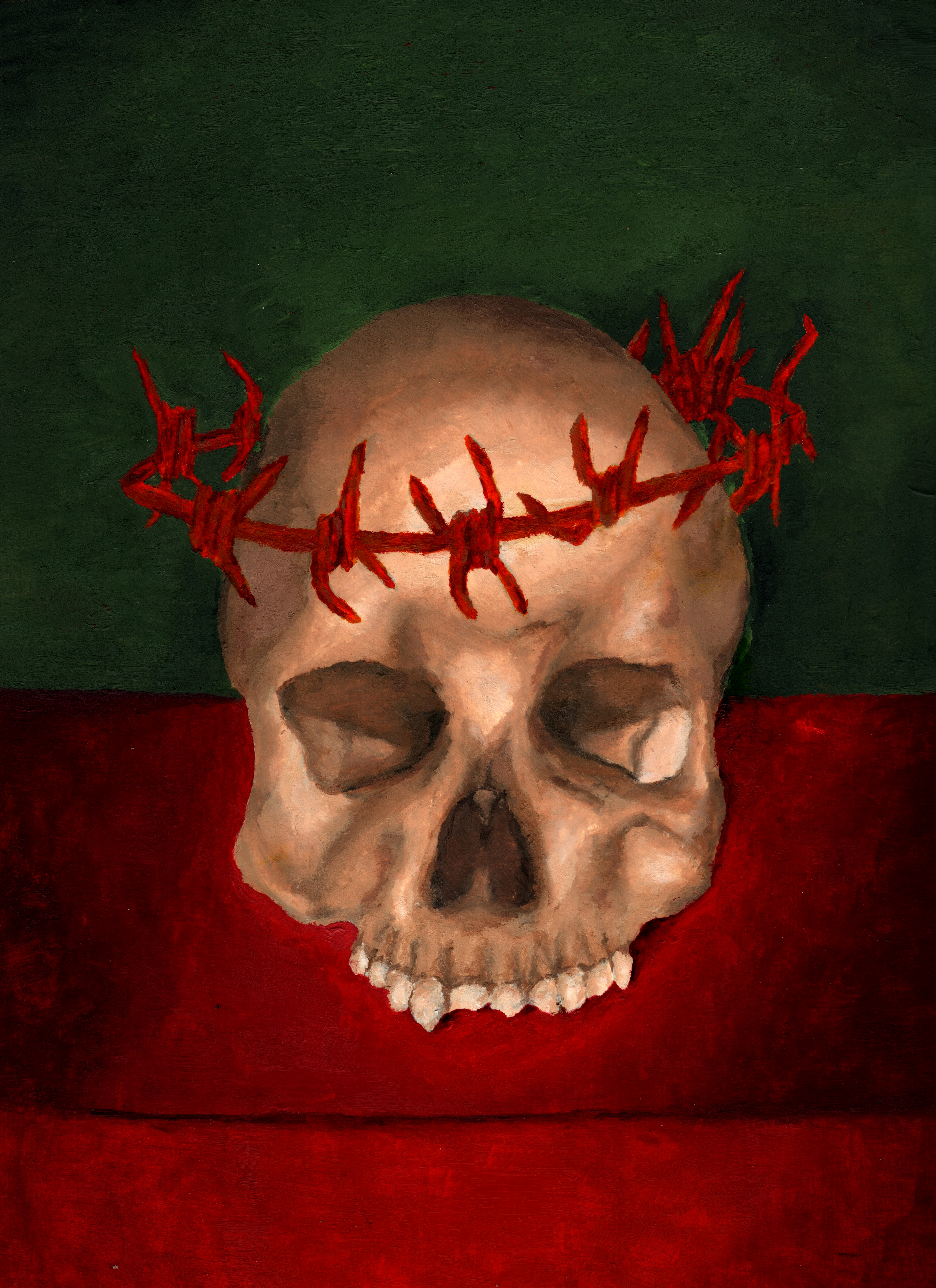 Grant Kearney Barbed Skull.jpeg