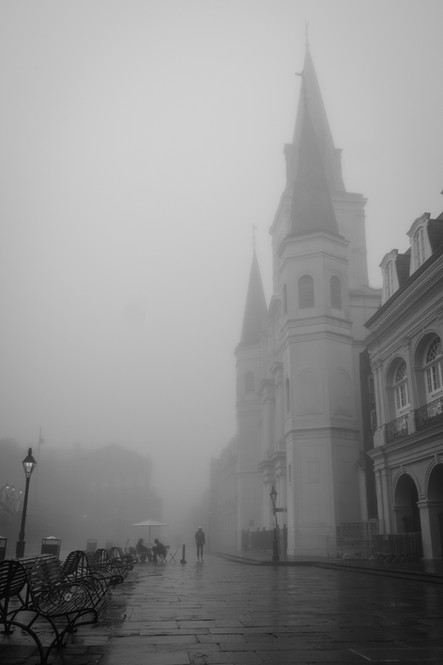 st. louis cathedral fog