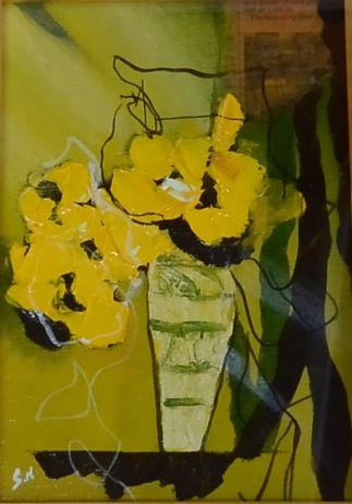 西原正一黄色の花3
