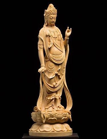 木彫観音像4