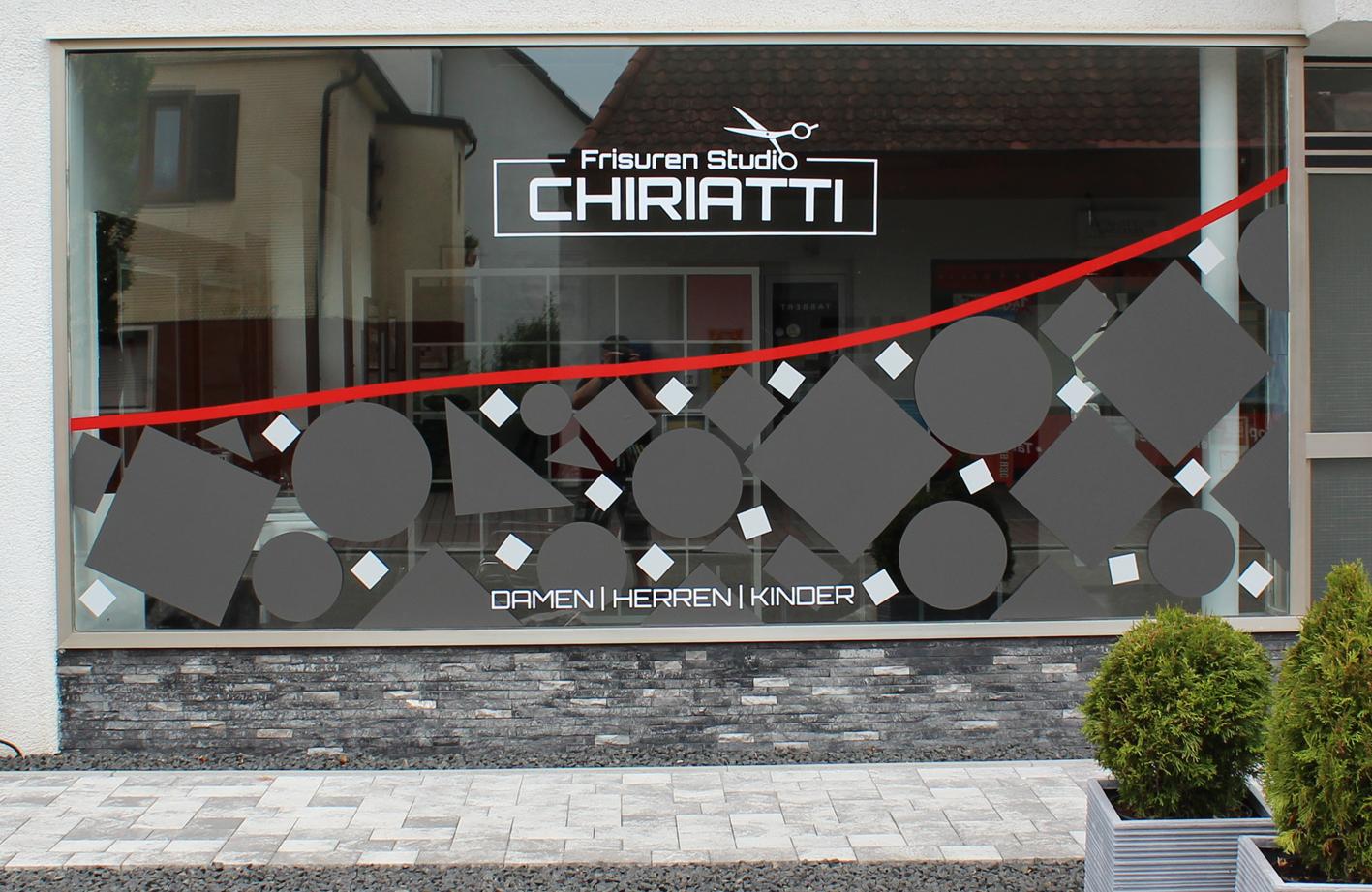 Werbetechnik_Friseursalon_Chiriatti
