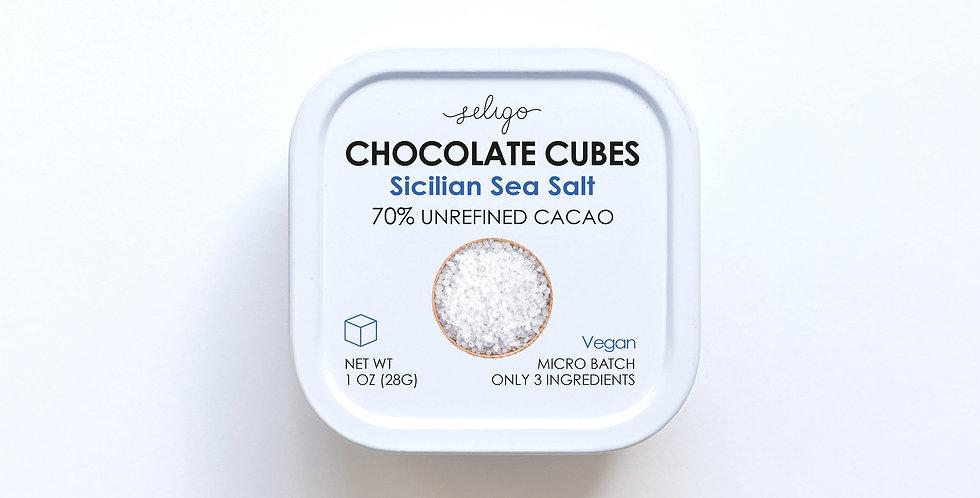 Sicilian Sea Salt - Bean to Cube Chocolate