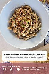 usitalianfood italian food meal kit pasta recipe food box authentic  cooking easy learn dinner lunch pistachio pesto extra virgin olive oil maccheroni spaghetti experience italy pistachio almond pesto cheese  ragusano vegetarian sicilian