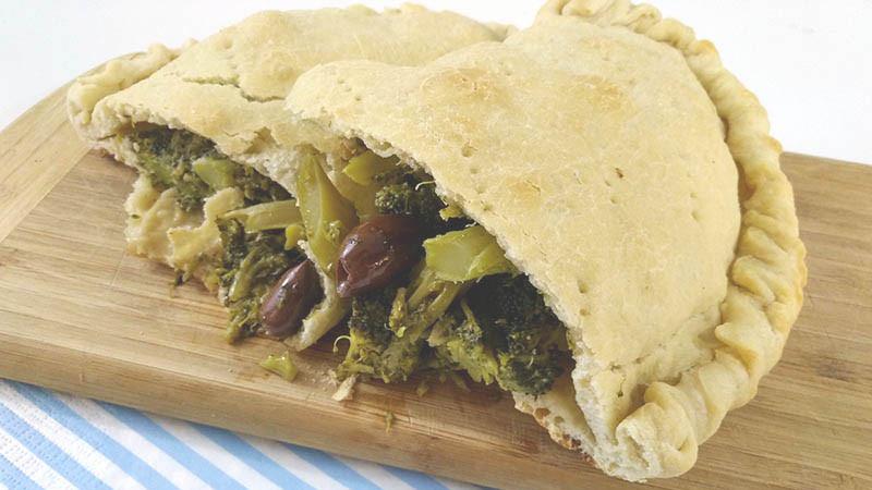 calzone recipe usitalianfood italian food broccoli vegan
