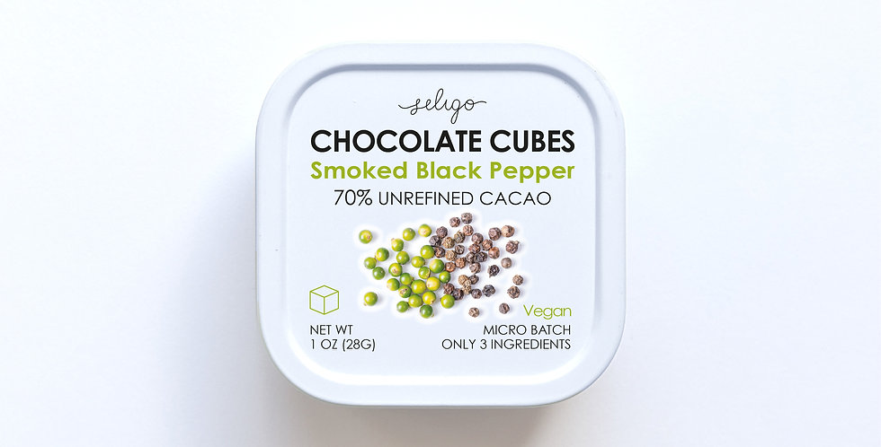 Smoked Black Pepper - Bean to Cube Chocolate