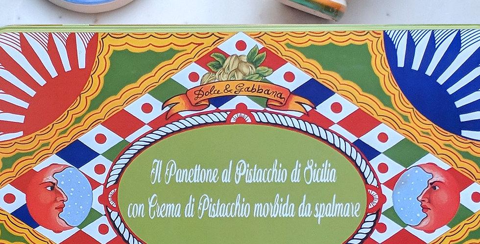Dolce & Gabbana ft Fiasconaro Panettone Pistachio + Pistachio Cream + Knife