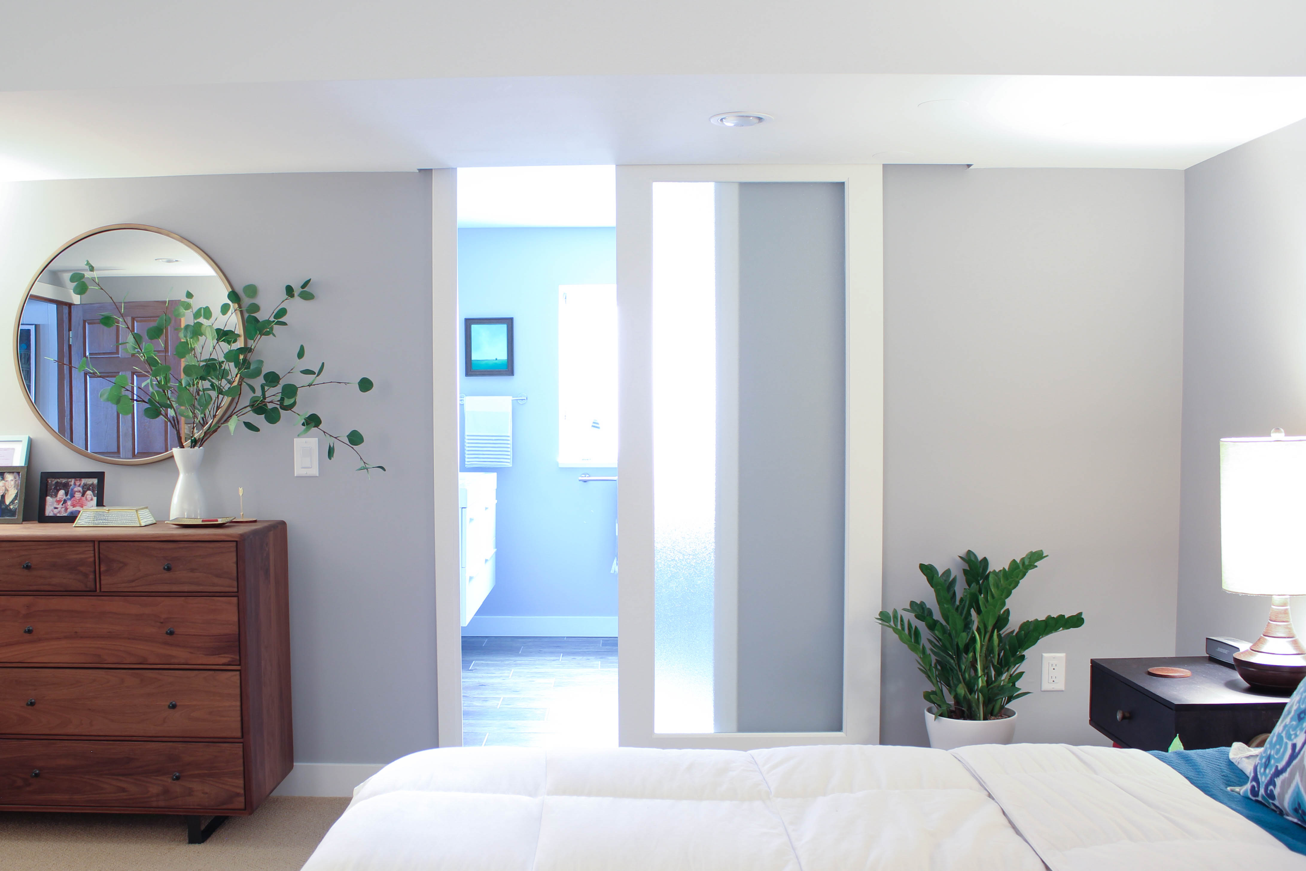 Basement Bathroom Remodel - Sliding Door