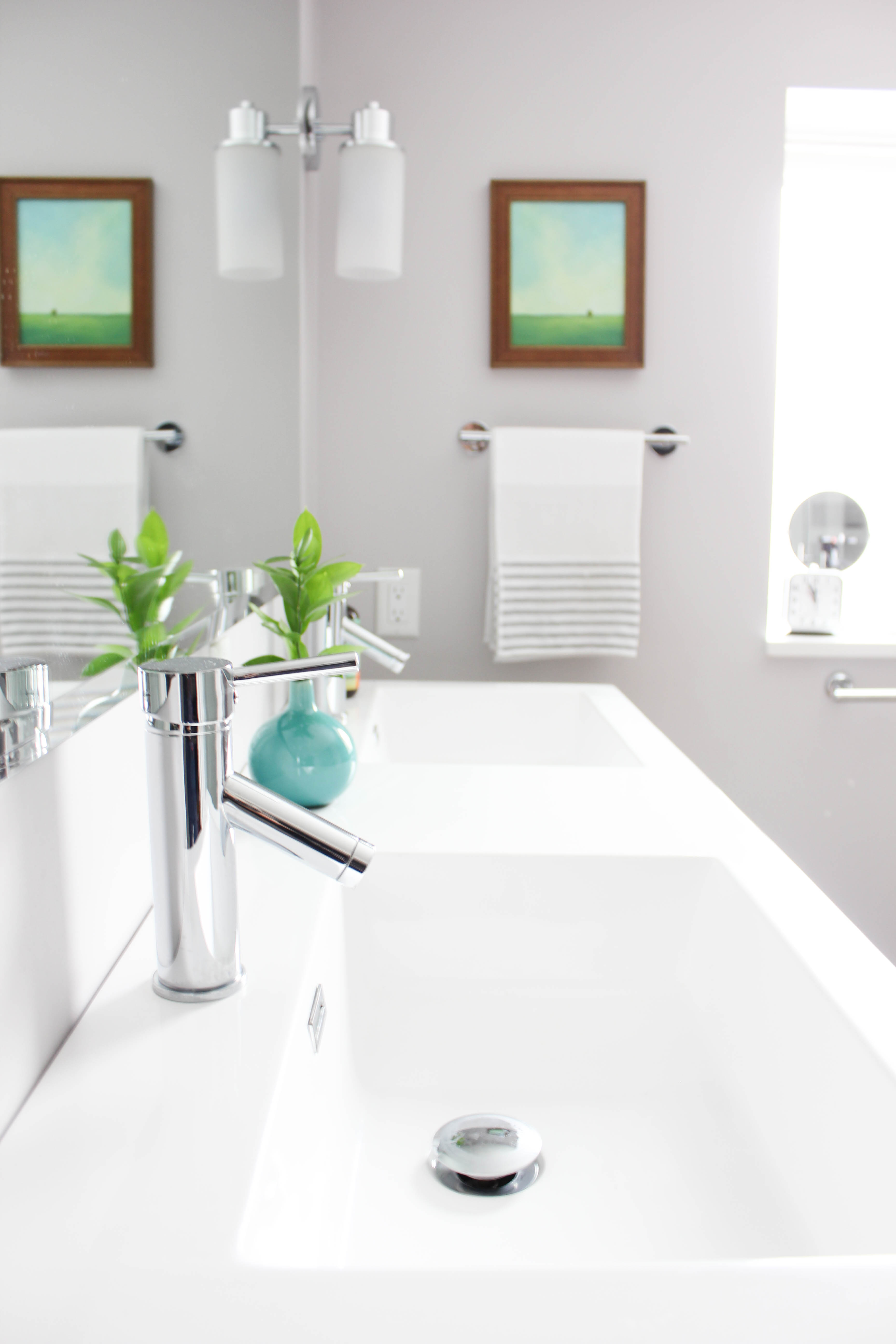 Basement Bathroom Remodel - Vanity Close-up