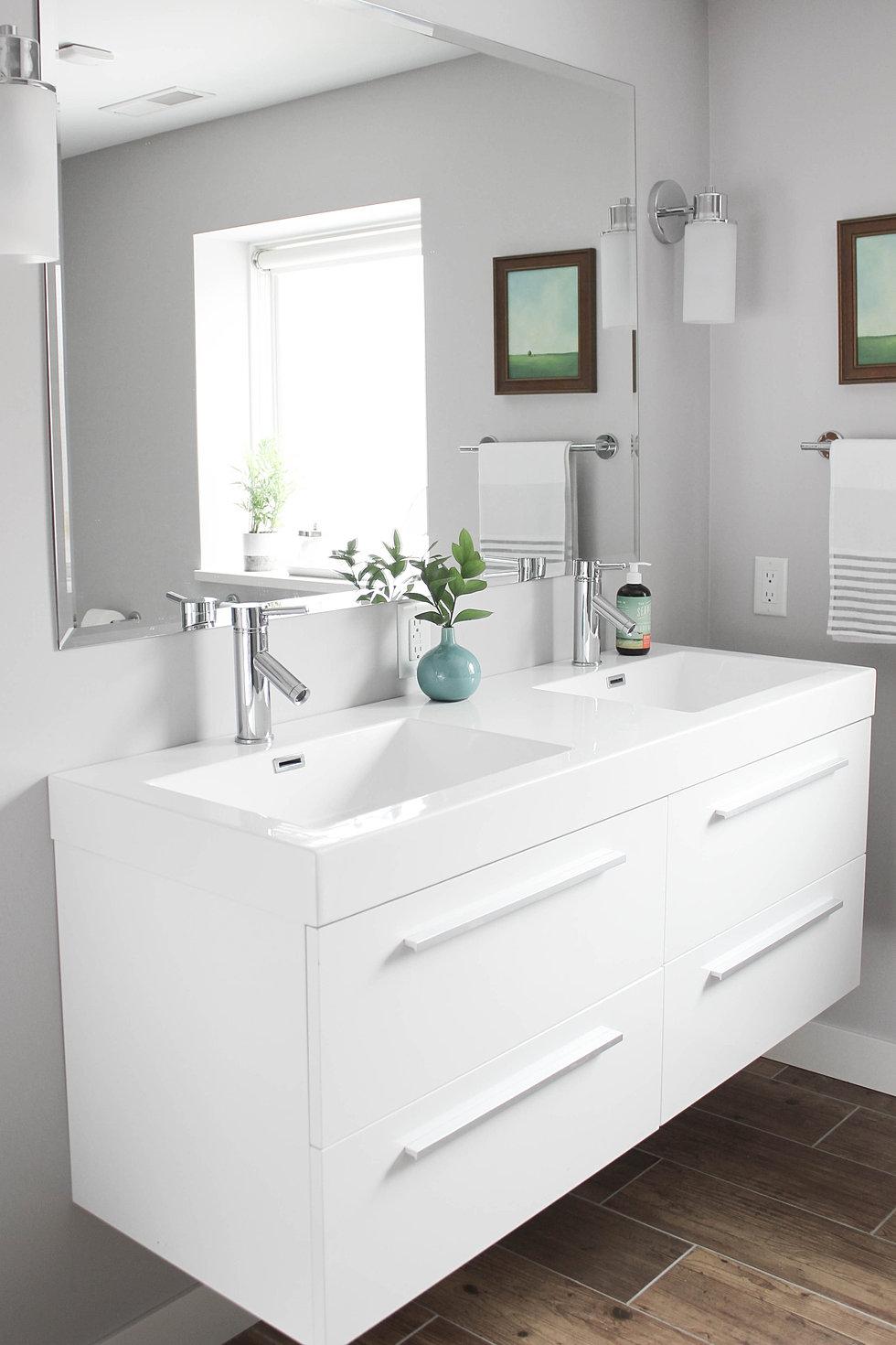 Modern cottage bathroom - Modern Cottage Bathroom Remodel Basement Bathroom Remodel Img_6274