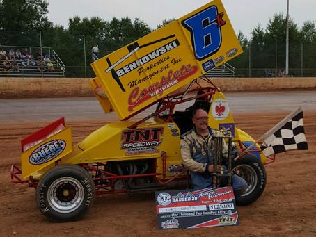 Kurt Davis wins Badger 30 at TNT Speedway